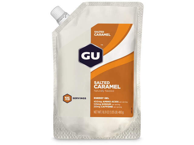 GU Energy Gel Bulk Pack 480g, Salted Caramel